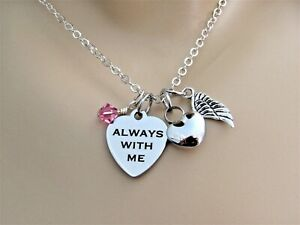 Always with Me Cremation Necklace, Heart Memorial Urn, Memorial Necklace