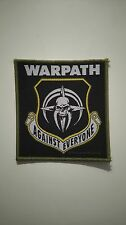 Warpath against everyone Vintage Sew On patch metal hardrock