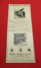 ADVERTISING PUB PUBLICITE ANCIENNE ADVERT 2.3 LE PIANOLA PIANO THE AEOLIAN CO 20