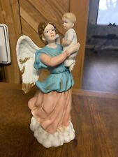 Home Interiors Homco #1417 Angel with Child Porcelain Figurine