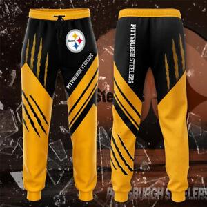 Pittsburgh Steelers Casual Joggging Pants Sweatpants Footbal Loose Trousers Gift