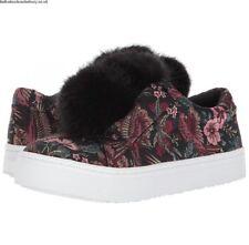 NEW + BOX SAM EDELMAN BLACK MAJESTIC BIRD JACQUARD POM POM SNEAKER UK 6 RRP £109