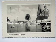 LIGNANO SABBIADORO darsena barca vela Udine vecchia cartolina