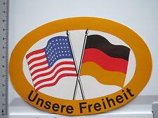 Aufkleber Sticker Amerika Deutschland - Obama - Merkel - Unsere Freiheit (6392)