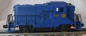 1960s Kusan O 3206 Two Rail 4 Wheel Diesel Switcher C&O 501 Great For Restoring