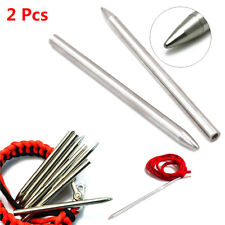 2pcs 550 Paracord Fids Lacing Stainless Steel Stitching Weaving Needles Hot Sale
