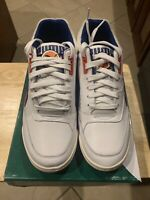 Puma Palace Guard OG Mens White Leather Low Top Lace Up Sneakers Shoes