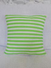 Cushion Cover, Lime, Green, White, Candy, Stripes, Fresh, Fun, Kids, Childrens.