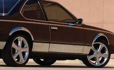BMW-SERIE 5 (E28) 4 BAGUETTES  PROTECTION BAS DE PORTE DROIT ET GAUCHE CHROME