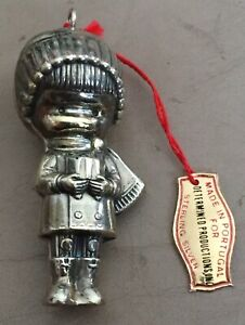 Joan Walsh Anglund 1974 Wolfpit Sterling Silver Christmas Ornament New Old Stock