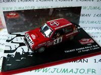 RMC15M 1/43 IXO altaya Rallye Monte Carlo TALBOT SAMBA RALLYE Gr. B 1984 Rouget