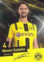 Neven Subotic (4) + Borussia Dortmund + Saison 2016/2017 + Autogrammkarte