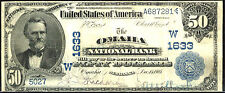 1902, $50 FR 668 Large Size National Third charter date back-Charter # 1633, Oma
