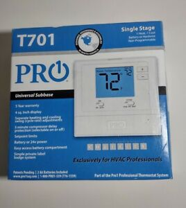Pro1 IAQ T701 701 Digital Thermostat Single Stage 1H/1C - Non-Programmable