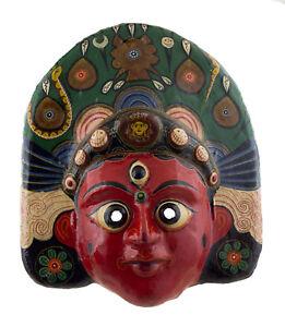 Grande Maschera Nepalese Brahma Indra Jatra Festival Carta IN Tibet 49 CM 1315