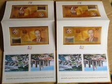 Brunei / Singapore Commemorative CIA with 50AC544544 & 50AE 544544  2 folders