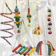7 Packs Pet Bird Parrot Toy Parakeet Bell Cage Bite Swing Hanging Hammock Toys