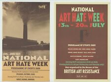 BILLY CHILDISH : ART HATE : 2009 : L13 3 COLOUR FLYERS + GESTNER INFO SHEET 2009