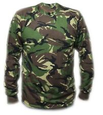 Mens Camouflage Camo T Shirt Army Woodland  Long Sleeve Top Hunting Shooting