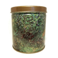 """Vintage1996 Olive Can Co Van Gogh Art Tin Container Canister 4"""" Museum Masters"""