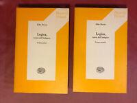 JOHN DEWEY LOGICA TEORIA DELL'INDAGINE II VOLUMI EINAUDI EDITORE 1974