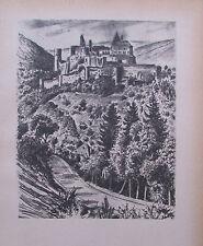 Ragimund Reimesch VIANDEN - CLERF BURGHOF Luxemburg 2 Drucke 1943 print