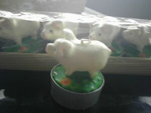 bulk lot 0f 12little pig tlight candles