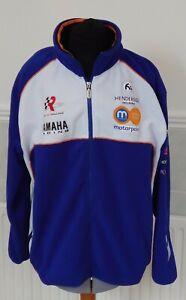 Yamaha Rob Mac Racing Blue / White Fleece Jacket Motorcycle Motorbike Size L