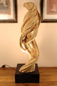 XL Holz Stehlampe Liane Treibholz Wurzelholz shabby chic vintage Lampe Leuchte