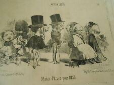 Caricature 1853 - Modes D'hiver pour 1853