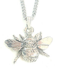 Bee Pendant Handcrafted in Solid Pewter In The UK + Free GiftBox PN75