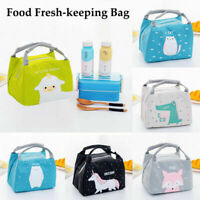Portable Thermal Insulated Lunch Box Container Floral Bag Tote Pouch Kids Girl
