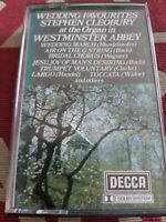 WEDDING FAVOURITES ~ STEPHEN CLEOBURY ORGAN WESTMINSTER ABBEY ~ DECCA CASSETTE