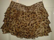 Womens Mini Skirt - Miso - Brown & Black Animal Print - Size 8