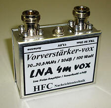 LNA-4m-VOX GaAs-FET Vorverstärker / 20dB / 70 - 70,5 MHz / Weißblechgehäuse