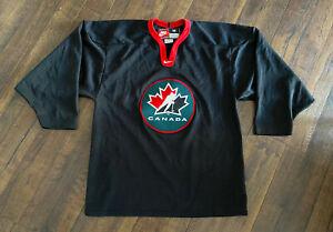 Vintage Team Nike Canada Hockey Jersey Medium Embroidered Olympics NHL Black