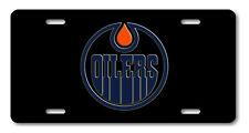 Edmonton Oilers Alberta Canada Hockey Team Aluminum Vanity License Plate Black