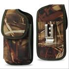 Vertical Camo Tree Nylon Belt Clip Case Pouch For Samsung Mega Nokia Lumia HTC