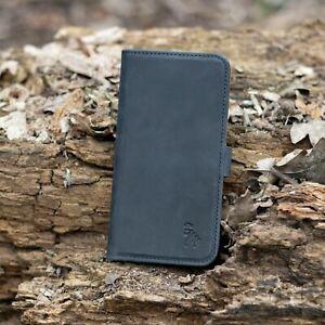 iPhone 12 Mini / iPhone 12 Pro Luxury Leather Wallet Flip Phone Case   BLUE