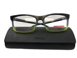 New Prada VPS 05F-F TWU-1O1 Black Men's Eyeglasses Frame 55.17.140 With Case