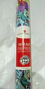 1 Roll My Little Pony NON-Christmas Gift Wrapping Paper 2.5' by 8' 20 sq. ft.