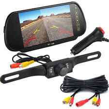 2 In 1 Video Cable Car Truck Rear View Backup Camera & 7 inch LCD Monitor Mirror