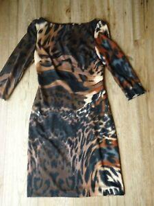 Jessica Simpson Pencil Dress 3/4 Sleeve Animal Print Size 2