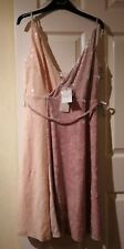New With Tags Next Dresses beige Sequin And Velvet Wrap Style Dress UK 16