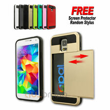 Rigid Plastic Mobile Phone Cases, Covers & Skins for Samsung Galaxy S5 with Card Pocket