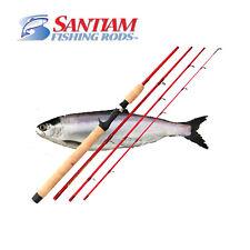 "Santiam Fishing Rods 4 PC 7'6"" 4-10lb Ultra Light Glass Kokanee/Trout Travel Rod"