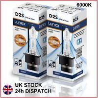 2 x D2S LUNEX XENON LÁMPARAS 6000K BOMBILLA compatible 85122 66040 66240 53500