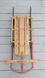 Vintage Sled (Gladding Champion Fastback) Metal Rail Sled