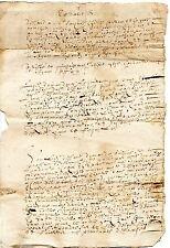 REGION AUVERGNE / LETTRE DOCUMENT MANUSCRIT 1686 Latin Vieux Français