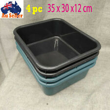 4pcs 35x30x12 cm Storage Tubs Plastic Crates Container Stack Basin Bins